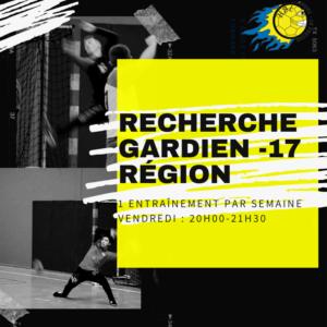 Recherche Gardien(s) -17 RÉGIONS HBL