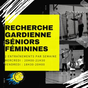 Recherche Gardienne(s) Séniors Féminines (D2)