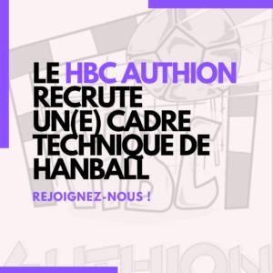 HBC AUTHION RECRUTE UN CADRE TECHNIQUE DE HANDBALL