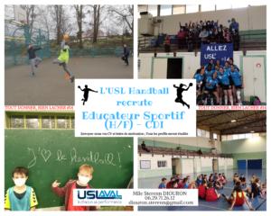 L'US Laval Handball recrute un Educateur Sportif (H/F)