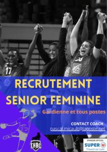 Recrutement Seniors Féminines